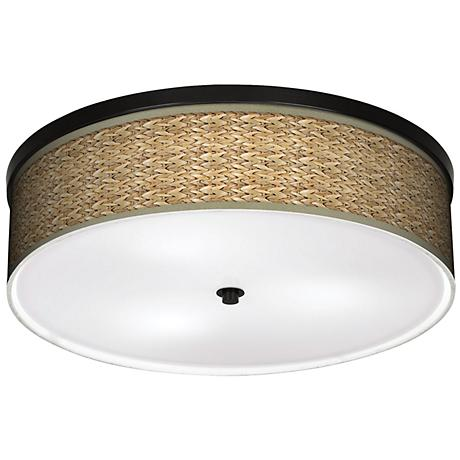 "Seagrass 20 1/4"" Wide CFL Bronze Ceiling Light"