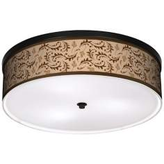 "Fall Breeze  20 1/4"" Wide CFL Bronze Ceiling Light"