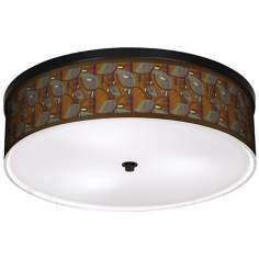 "Stacy GarciaTheatric Vine Peacock 20 1/4"" Wide Ceiling Light"