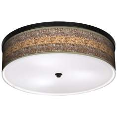 "Woven Fundamentals 20 1/4"" Wide CFL Bronze Ceiling Light"