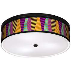 "Mambo 20 1/4"" Wide CFL Bronze Ceiling Light"