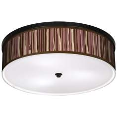 "Kalahari Lines 20 1/4"" Wide CFL Bronze Ceiling Light"
