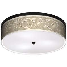 "Laurel Court Bronze 20 1/4"" Wide Ceiling Light"