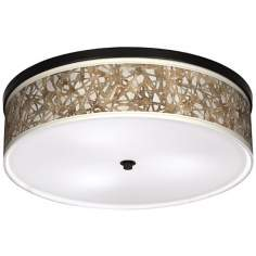 "Organic Nest 20 1/4"" Wide CFL Bronze Ceiling Light"