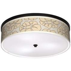 "Floral Silhouette 20 1/4"" Wide CFL Bronze Ceiling Light"