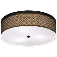 "Grevena Giclee 20 1/4"" Wide CFL Bronze Ceiling Light"