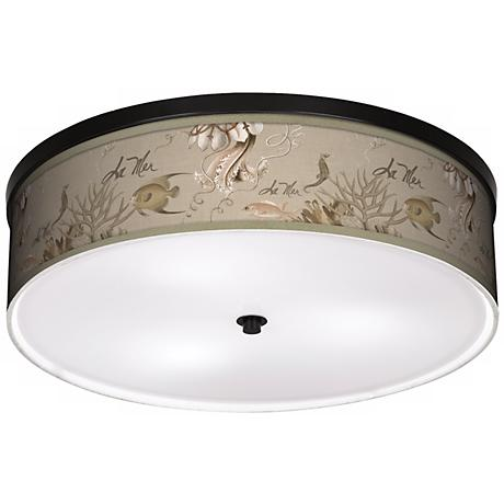 "La Mer Jellyfish 20 1/4"" Wide CFL Bronze Ceiling Light"
