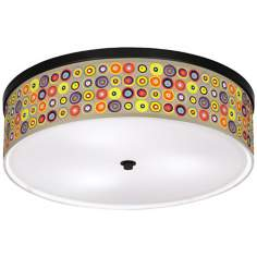 "Marbles in the Park Giclee Bronze 20 1/4"" Wide Ceiling Light"