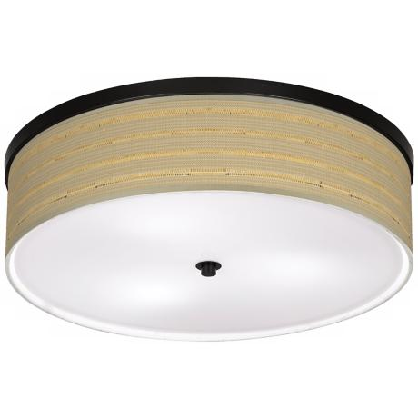 "Woven Reed Giclee Bronze 20 1/4"" Wide Ceiling Light"