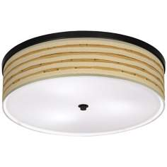 "Bamboo Wrap Giclee 20 1/4"" Wide CFL Bronze Ceiling Light"