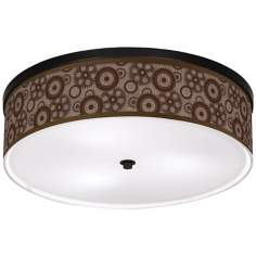 "Industrial Gears Bronze 20 1/4"" Wide Giclee Ceiling Light"