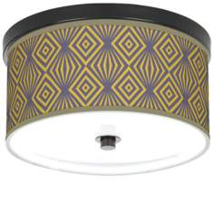 "Deco Revival 10 1/4"" Wide CFL Bronze Ceiling Light"