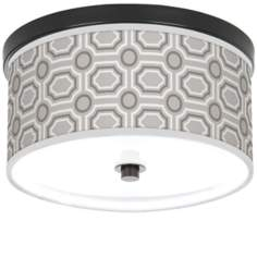 "Luxe Tile 10 1/4"" Wide CFL Bronze Ceiling Light"