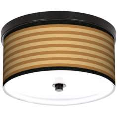 "Butterscotch Parallels 10 1/4"" Wide CFL Bronze Ceiling Light"