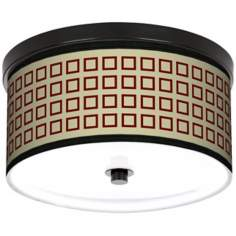 "Simply Squares 10 1/4"" Wide CFL Bronze Ceiling Light"
