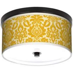 "Lemongrass Florence 10 1/4"" Wide CFL Bronze Ceiling Light"