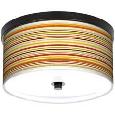 "Lemongrass Stripe 10 1/4"" Wide CFL Bronze Ceiling Light"