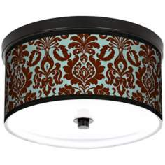 "Kiwi Tini Florence 10 1/4"" Wide CFL Bronze Ceiling Light"