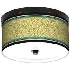 "Kiwi Tini Dahlia 10 1/4"" Wide CFL Bronze Ceiling Light"