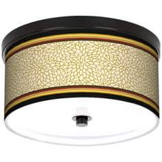 "Spice Dahlia 10 1/4"" Wide CFL Bronze Ceiling Light"