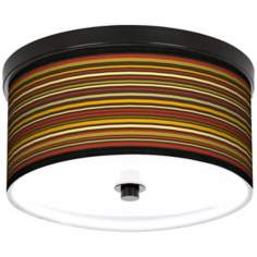 "Spice Stripe 10 1/4"" Wide CFL Bronze Ceiling Light"
