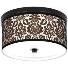 "Countess Florence 10 1/4"" Wide CFL Bronze Ceiling Light"