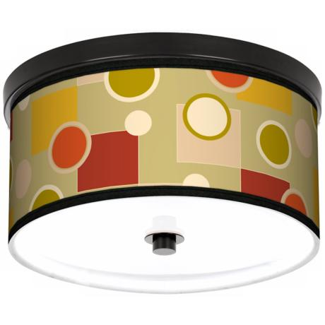 "Retro Citrus Medley 10 1/4"" Wide CFL Bronze Ceiling Light"