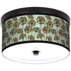"African Lily Ice 10 1/4"" Wide CFL Bronze Ceiling Light"