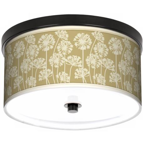 "African Lily Spring 10 1/4"" Wide CFL Bronze Ceiling Light"