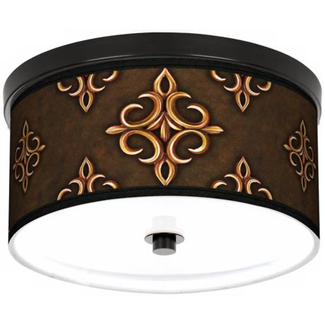 "Estate Mocha 10 1/4"" Wide CFL Bronze Ceiling Light"