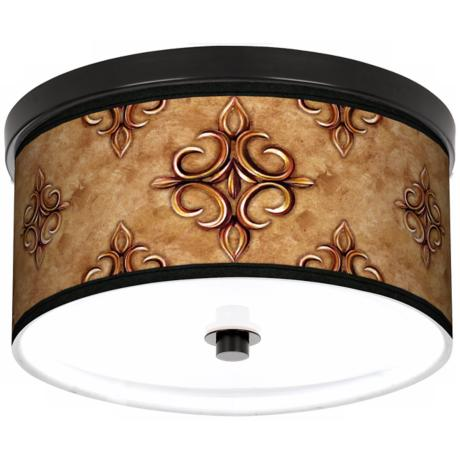 "Estate Nutmeg 10 1/4"" Wide CFL Bronze Ceiling Light"