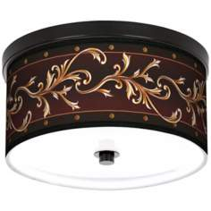 "Athenia Leaf 10 1/4"" Wide CFL Bronze Ceiling Light"