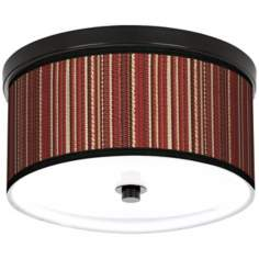 "Woven 10 1/4"" Wide CFL Bronze Ceiling Light"