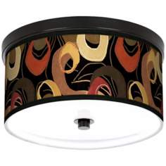 "Rhythm Motif 10 1/4"" Wide CFL Bronze Ceiling Light"