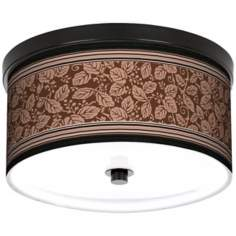 "Wooden Park 10 1/4"" Wide CFL Bronze Ceiling Light"