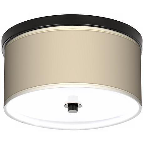 "Softer Tan 10 1/4"" Wide CFL Bronze Ceiling Light"