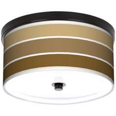 "Tones Of Chestnut 10 1/4"" Wide CFL Bronze Ceiling Light"