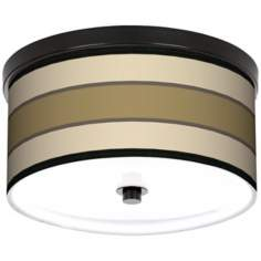 "Tones Of Beige 10 1/4"" Wide CFL Bronze Ceiling Light"