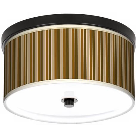 "Umber Stripes 10 1/4"" Wide CFL Bronze Ceiling Light"