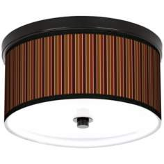 "Cinnamon Stripes 10 1/4"" Wide CFL Bronze Ceiling Light"