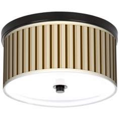 "Fawn Stripes 10 1/4"" Wide CFL Bronze Ceiling Light"