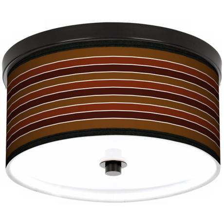 "Tones Of Sienna 10 1/4"" Wide CFL Bronze Ceiling Light"