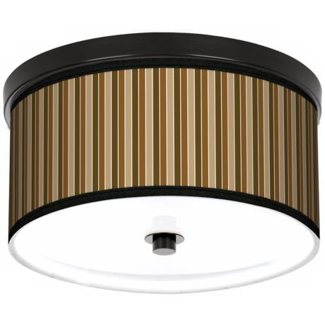 "Sorrel Vertical 10 1/4"" Wide CFL Bronze Ceiling Light"