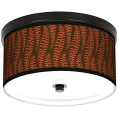 "Stacy Garcia Fancy Fern Coral 10 1/4"" Wide CFL Bronze Light"