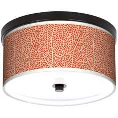 "Stacy Garcia Seafan Coral Giclee 10 1/4"" Wide Ceiling Light"