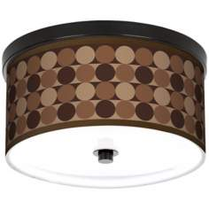 "Sienna Grey Circles 10 1/4"" Wide CFL Bronze Ceiling Light"