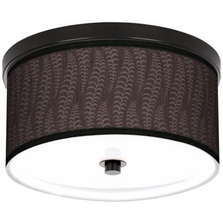 "Stacy Garcia Fancy Fern Taupe 10 1/4"" Wide CFL Bronze Light"