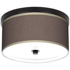 "Stacy Garcia Seafan Taupe 10 1/4"" Wide CFL Bronze Light"