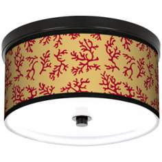 "Crimson Coral 10 1/4"" Wide CFL Bronze Ceiling Light"