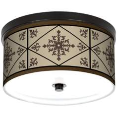 "Chambly Bronze Energy Efficient 10 1/4"" Wide Ceiling Light"